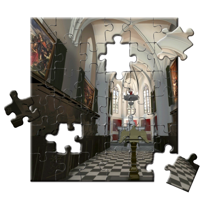 puzzle reconstruction de l'église en 3D UMR / MAP