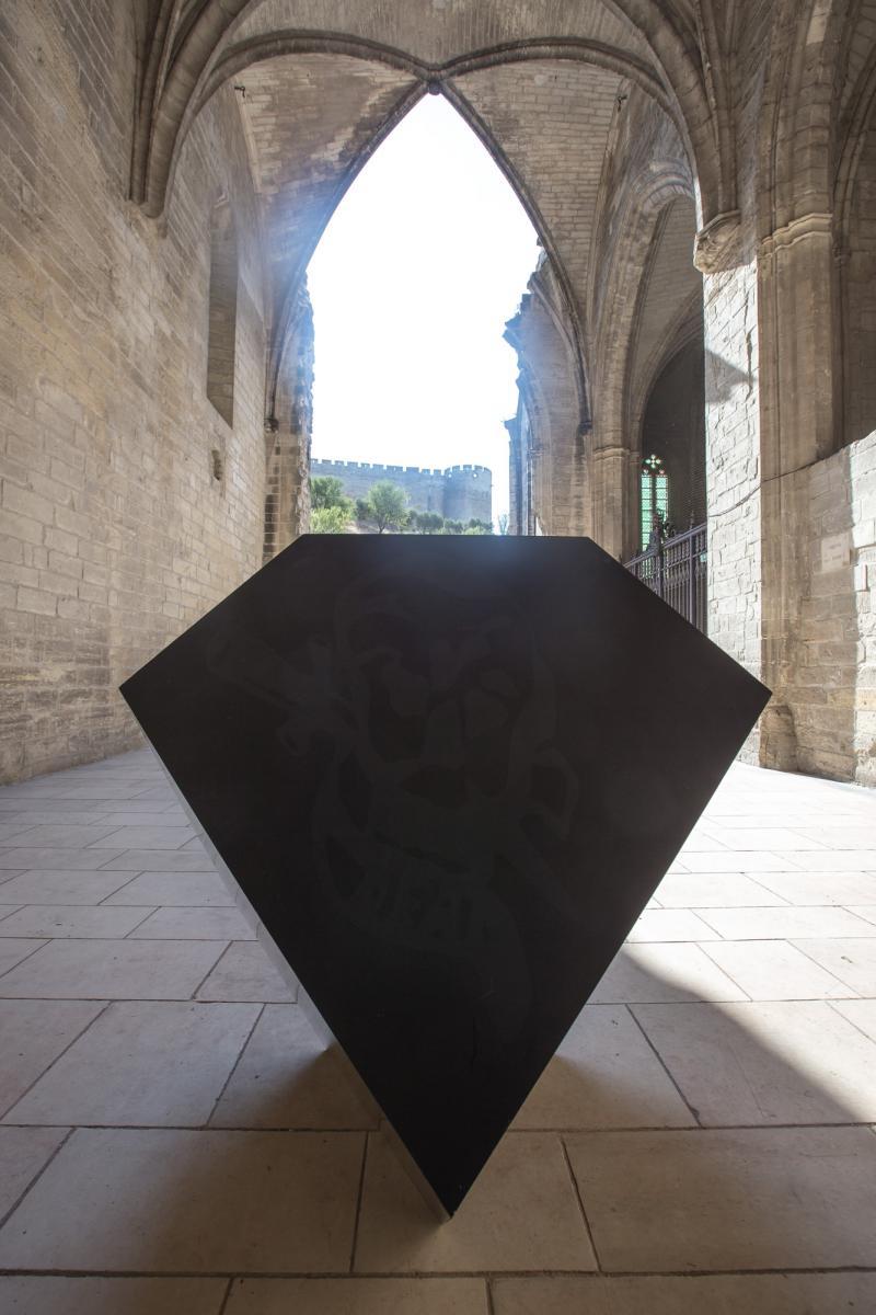 Melencolia, 2003 Philippe Decrauzat #Extension labyrinthe © Alex Nollet/La Chartreuse