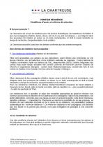 Conditions d'accès & critères de sélection